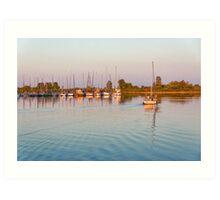 Impressions of Summer - Sailing Home at Sundown Art Print