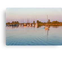 Impressions of Summer - Sailing Home at Sundown Canvas Print