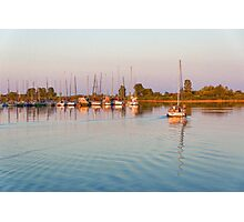 Impressions of Summer - Sailing Home at Sundown Photographic Print