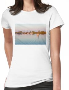 Impressions of Summer - Sailing Home at Sundown Womens Fitted T-Shirt