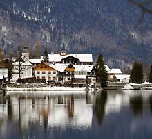 Town Walchensee, Winter, Bavaria, Germany. by Daidalos