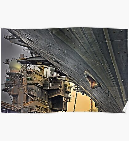 Super structure USS Kitty Hawk Poster