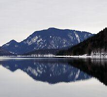 Winter at Lake Walchensee, Germany by Daidalos