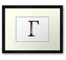 Gamma Greek Letter Framed Print