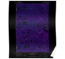 USGS Topo Map Washington State WA Winchester Peak 244738 1968 24000 Inverted Poster