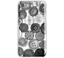Monochrome Buttons iPhone Case/Skin