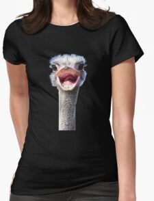 Goofy ostrich Womens Fitted T-Shirt