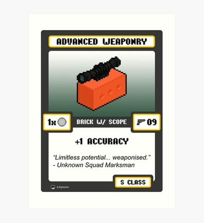 Advanced Weaponry - Brick w/ Scope Art Print