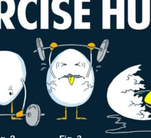 Exercise Hurts | Funny Workout Sticker