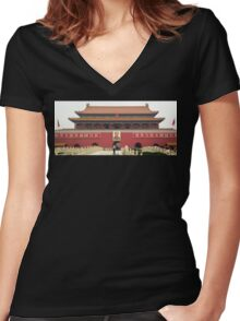 Forbidden City Southern Gate Women's Fitted V-Neck T-Shirt