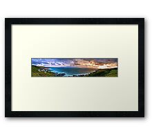 Woolacombe Bay - Panoramic  Framed Print