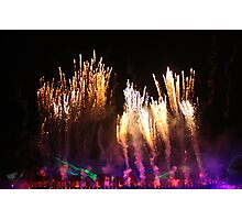 the happiness of firework Photographic Print