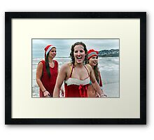 Santa Babies :) Framed Print