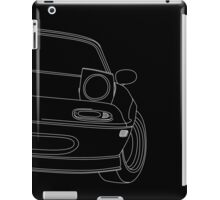 miata outline - white iPad Case/Skin