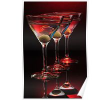 Red hot Martinis Poster