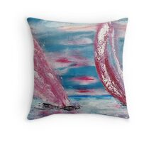 On the waves of freedom Throw Pillow