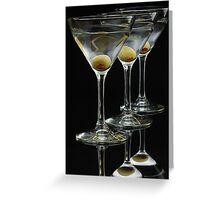 Three Martinis Greeting Card