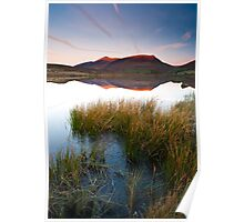 Red glow on Blencathra Poster