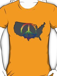 Peace in the US T-Shirt T-Shirt