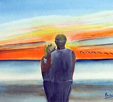 Love At Sunset  - San Clemente Ca by Rob Beilby