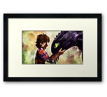 How to Train Your Dragon - Hiccup and Toothless Framed Print