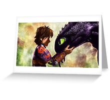 How to Train Your Dragon - Hiccup and Toothless Greeting Card
