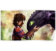 How to Train Your Dragon - Hiccup and Toothless Poster