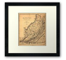 Map of Western Virginia by W. L. Nicholson (1862) Framed Print
