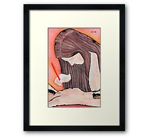 Creating one's own muse Framed Print