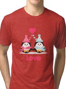 Penguin Love Tri-blend T-Shirt