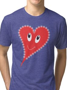 Smiling heart Tri-blend T-Shirt