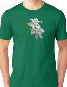 Two White Lilies Unisex T-Shirt