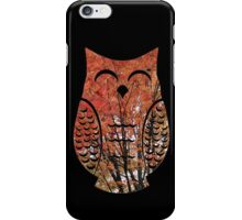 Happy Autumn Tree Owl iPhone Case/Skin