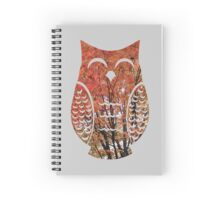 Happy Autumn Tree Owl Spiral Notebook