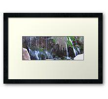 Water Falls In Toro Toro Framed Print