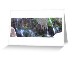 Water Falls In Toro Toro Greeting Card