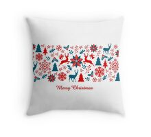 Christmas banner Throw Pillow