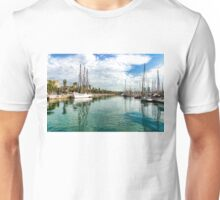 Yachts and Palm Trees - Impressions of Barcelona  Unisex T-Shirt