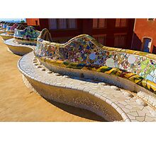 Gaudi's Park Guell Sinuous Curves - Impressions Of Barcelona Photographic Print