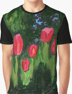 Tulips from the Avian Estates ABSTRACT Graphic T-Shirt