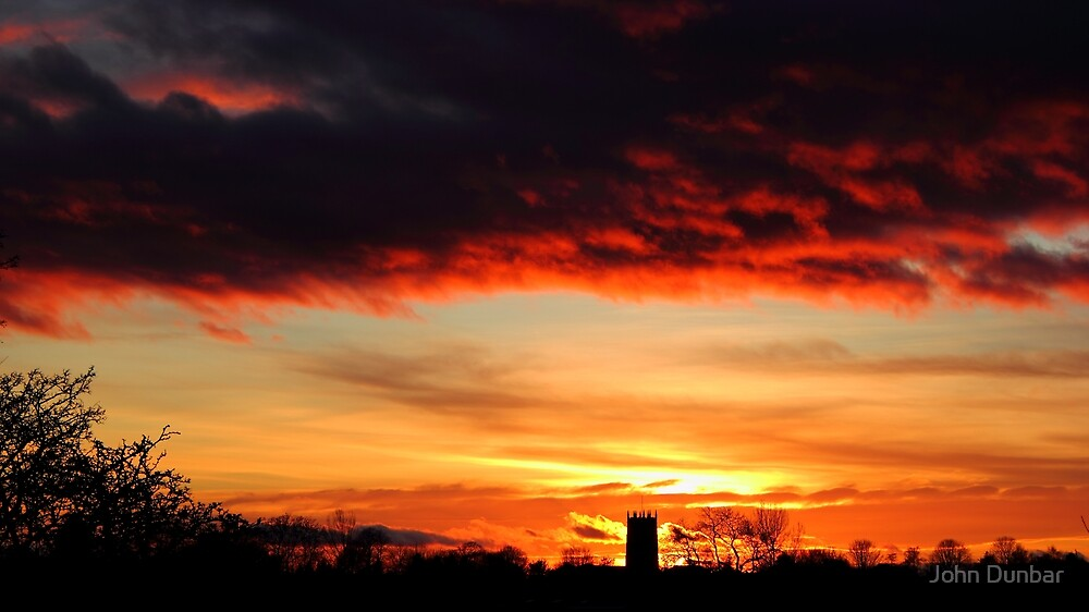 Haxey sunset by John Dunbar