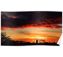 Haxey sunset Poster