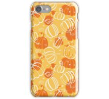 Orange pattern with pumpkins iPhone Case/Skin