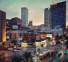 The Magic City at twilight (Canal Street and the Central Business District). by Alfonso Bresciani