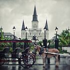 St Louis - Cathedral New Orleans by Alfonso Bresciani