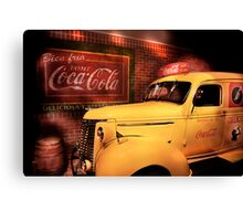 Classic CocaCola Delivery Van  Canvas Print