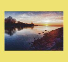 Purple Rocks Sunrise – Lake Ontario Impressions One Piece - Short Sleeve