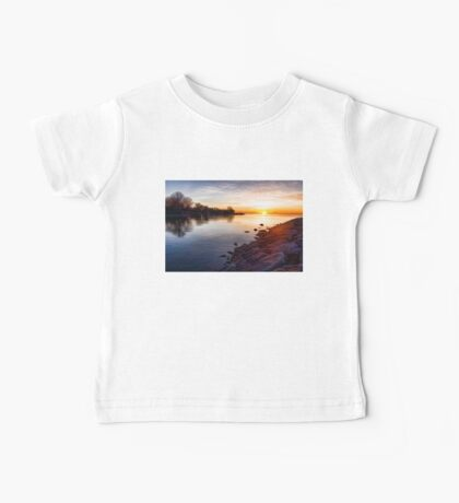 Purple Rocks Sunrise – Lake Ontario Impressions Baby Tee