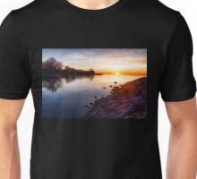 Purple Rocks Sunrise – Lake Ontario Impressions Unisex T-Shirt