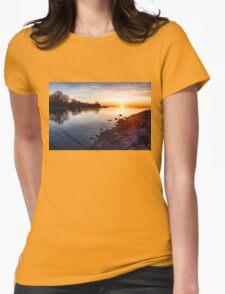 Purple Rocks Sunrise – Lake Ontario Impressions T-Shirt